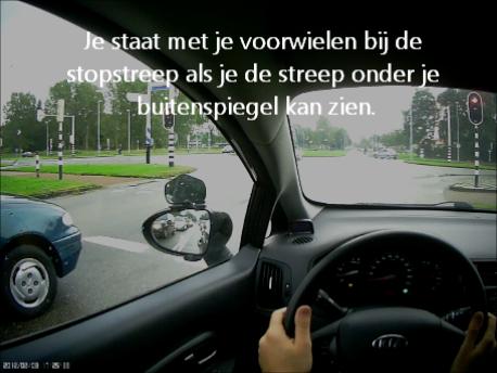 Stoppen bij een stopstreep/verkeerslicht